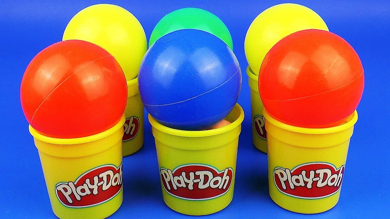 Плей До Сюрприз Игрушки открываем Цветные Шарики Киндер Сюрприз