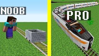 Minecraft Noob vs. Pro : ROLLER COASTER challenge - Train in Minecraft Battle