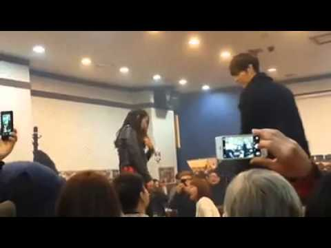 Kim Woo Bin hugs Park Shin Hye @ The Heirs Farewell Party
