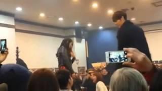 Kim Woo Bin hugs Park Shin Hye The Heirs Farewell Party