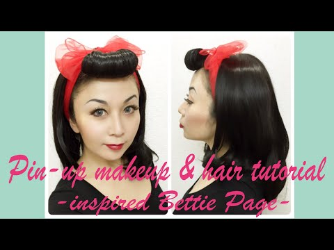 Pin-up makeup & hair tutorial -inspired Bettie Page-