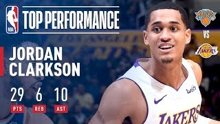 Jordan Clarkson's 29 Pts and 10 Dimes Leads Lakers Past Knicks | January 21, 2018