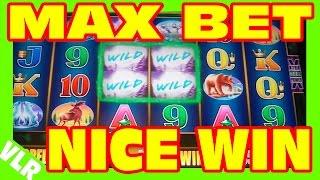 WOLF MOON - MAX BET - NICE WIN - Slot Machine Bonus