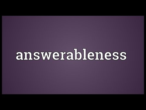 Header of answerableness
