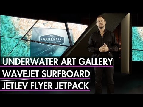A Motorized Surfboard, Water-Propelled Jet Pack, Underwater Art Gallery
