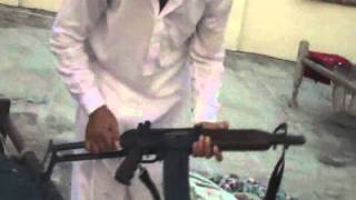 TWO GUNS AK 47 AND 12 BOR FIRE AT SAME TIME