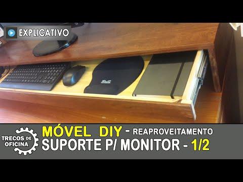 MÓVEL com Reaproveitamento de Madeira / Projeto DIY / SUPORTE caseiro para MONITOR - 1/2