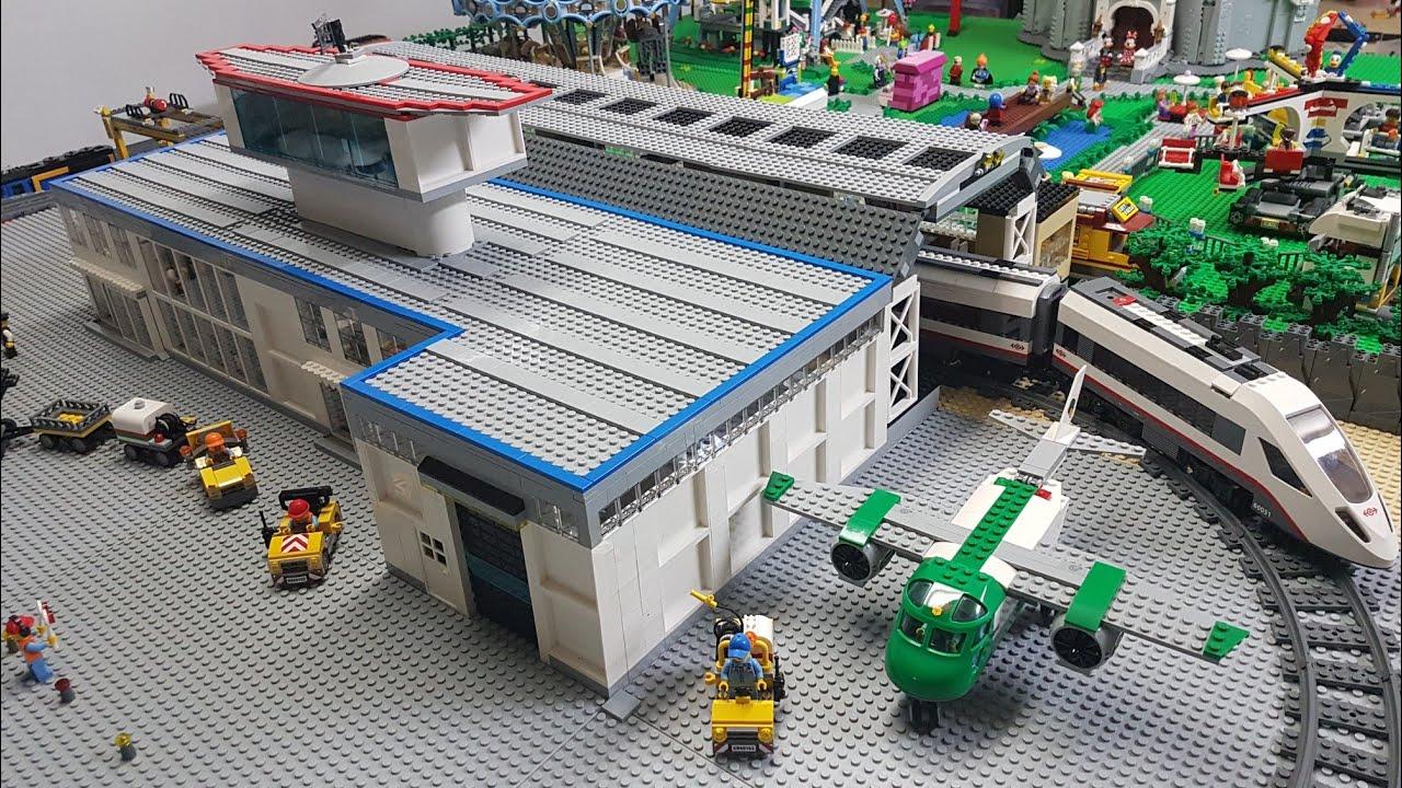 Lego Airport Terminal Train Station Update Moc Custom Build
