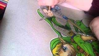 Speed drawing - LoZ Adult & Kid Link - Part 2