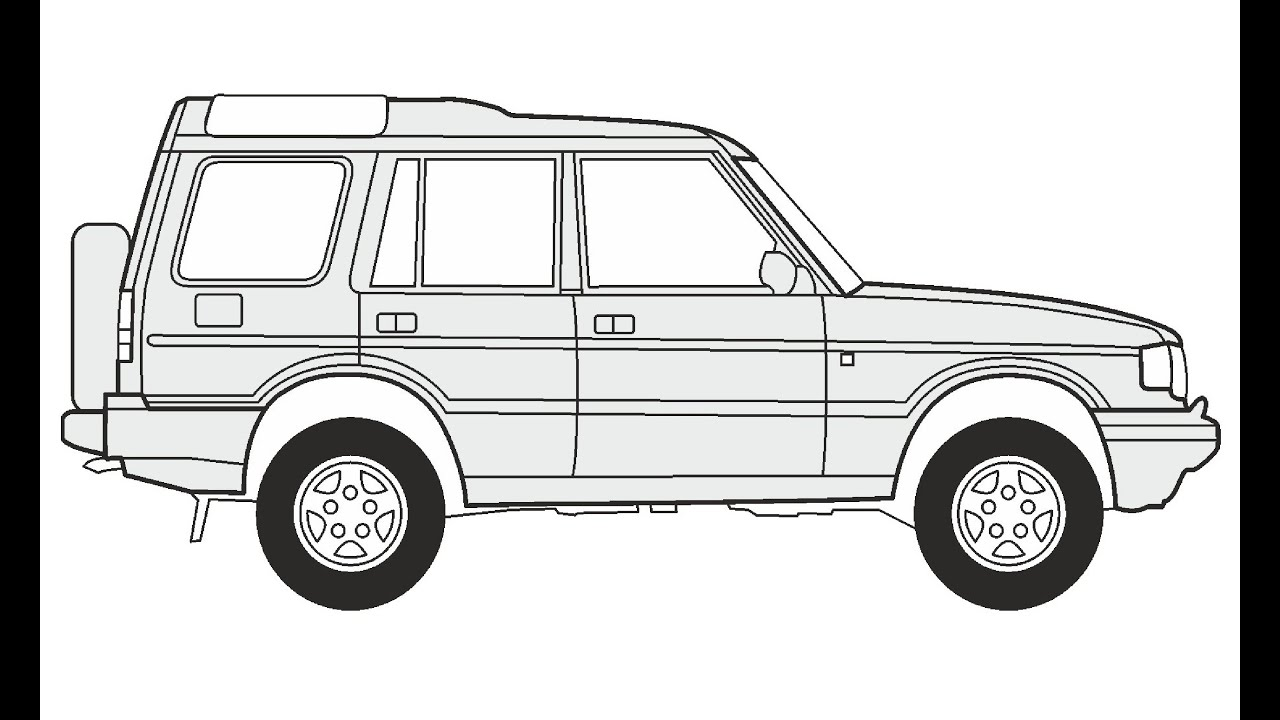 How to Draw a Land Rover Discovery 5 / Как нарисовать Land Rover ...