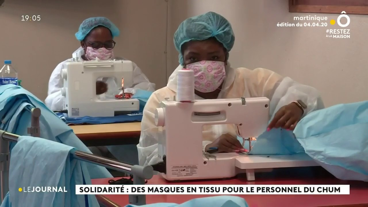 Coronavirus : fabrication de masques et de tenues de protection