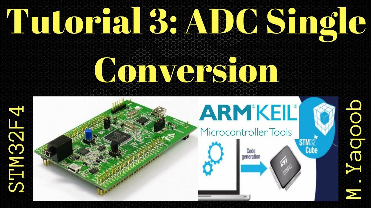 STM32F4 Discovery board - Keil 5 IDE with CubeMX: Tutorial 3 ADC