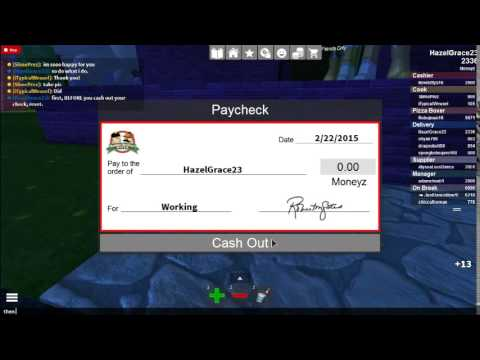 How To Get Free Moneyz On Roblox Work At A Pizza Place Youtube
