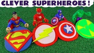 Superman The Flash and Avengers Hulk & Captain America Logos Thomas Play Doh Toy Story TT4U