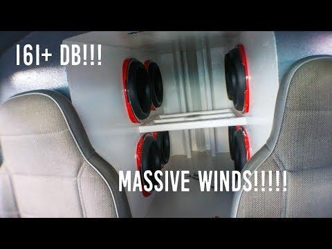 BRUTAL BASS WIND TUNNEL!!!!! (Dennis' 8 Orion HCCA 12s on 2 HCCA 11Ks)