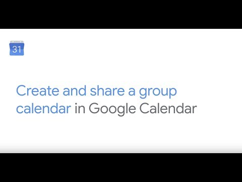 Create a shared calendar