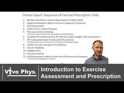 Introduction to Exercise Assessment and Prescription