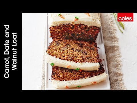 How to make carrot, date & walnut loaf