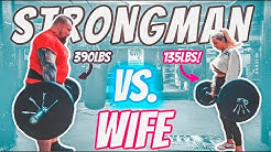 400LB MAN VS WIFE   WHO'S STRONGER?