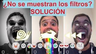 No aparecen los efectos y filtros de Snapchat: Como activarlos.