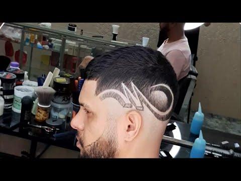 Cắt tóc nam tự do - Vẽ trên tóc