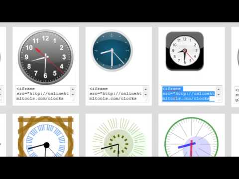 How To Add Display Clocks On Websites and Blogs