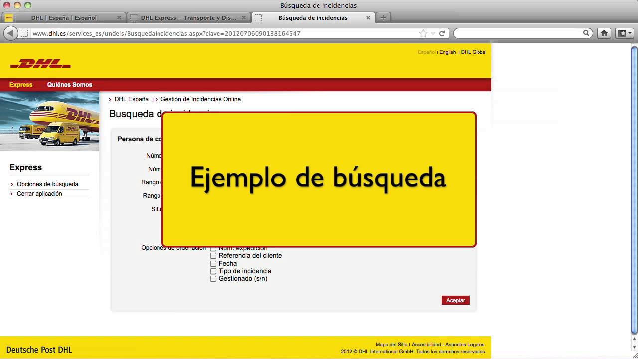 Gestión de incidencias de DHL - DHL Express España - YouTube