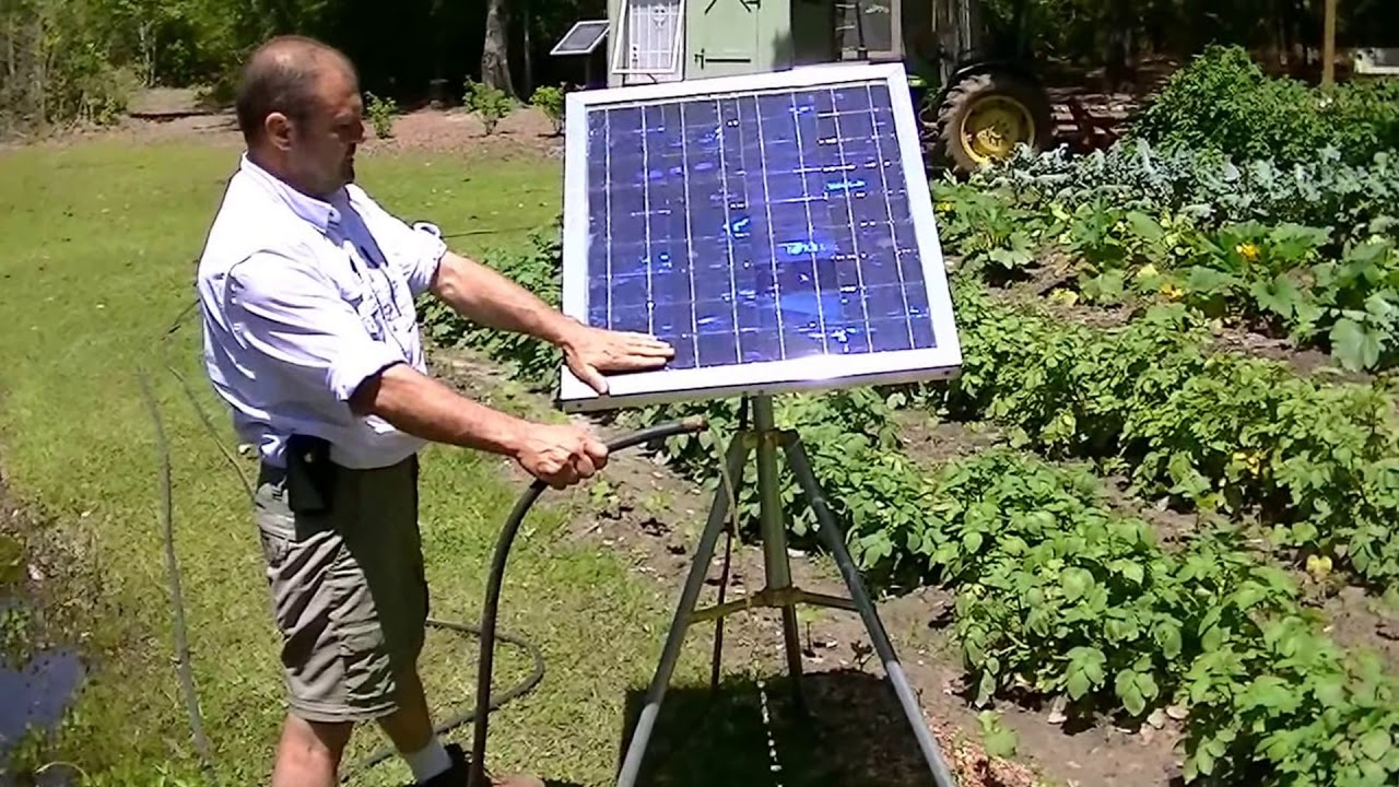 Portable solar water pump no battery water garden grow for Garden pond do you need a pump