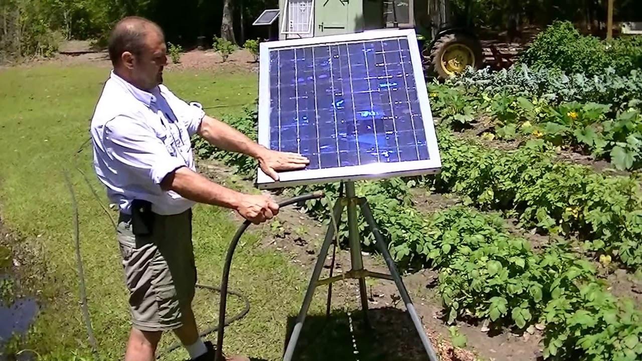 Portable Solar Water Pump No Battery Water Garden Grow