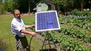 Portable solar water pump/ no battery water garden, live off the land.