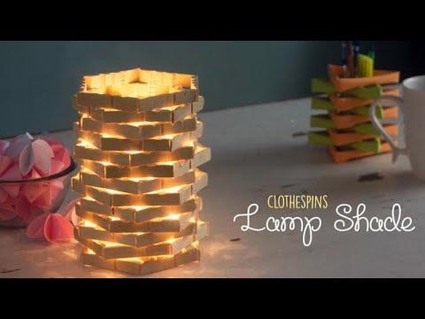 DIY Clothespin Lamp Shade