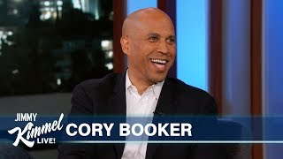 Jimmy Kimmel Pitches New Campaign Slogans to Cory Booker