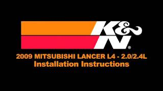 2008-2012 Mitsubishi Lancer 2.4L and 2.0L Air Intake Installation