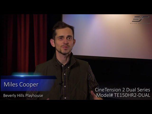 Elite Screens CineTension 2 WraithVeil® Dual Projection Screen Testimonial Video
