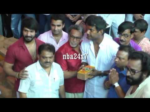 Actor Nassar laid Foundation stone for Nadigar sangam Building | nba 24x7