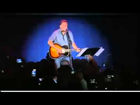 Bruce Springsteen in Ohio Campaign for President Barack Obama Part 1