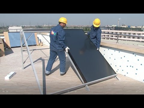 How to install a solar water heater - Compact non-pressurized solar water heater