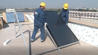 How to install a solar water heater - Compact non-pressurized solar water heater thumbnail