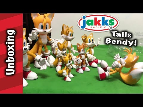 Jakks Pacific Tails Bendy Unboxing And Review!