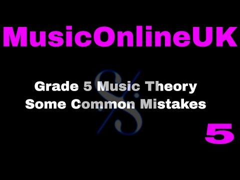 Grade 5 Music Theory - some common mistakes - Intervals