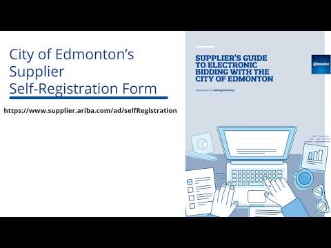 Electronic Procurement - Using SAP Ariba :: City of Edmonton