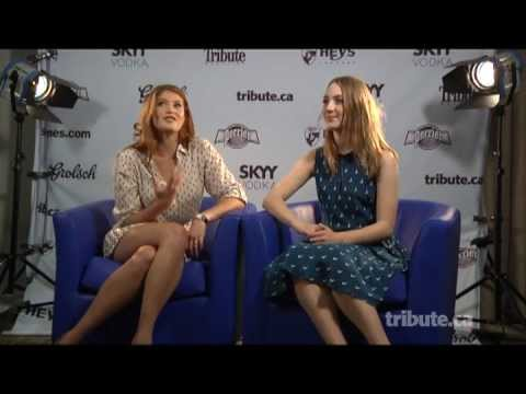 Gemma Arterton & Saiorse Ronan - Byzantium Interview with Tribute at TIFF 2012