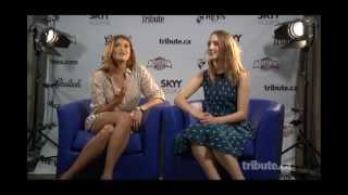 Gemma Arterton & Saiorse Ronan - Byzantium Interview with Tribute at TIFF 2012