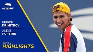 Grigor Dimitrov vs Alexei Popyrin Highlights | 2021 US Open Round 2
