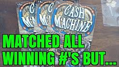 WON EVERY WINNING NUMBER!!! Cash Machine $5 Idaho Scratchers