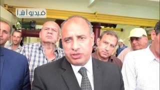 بالفيديو محافظ البحيرة ورئيس الهيئة القومية لمشروعات مياه الشرب والصرف الصحى