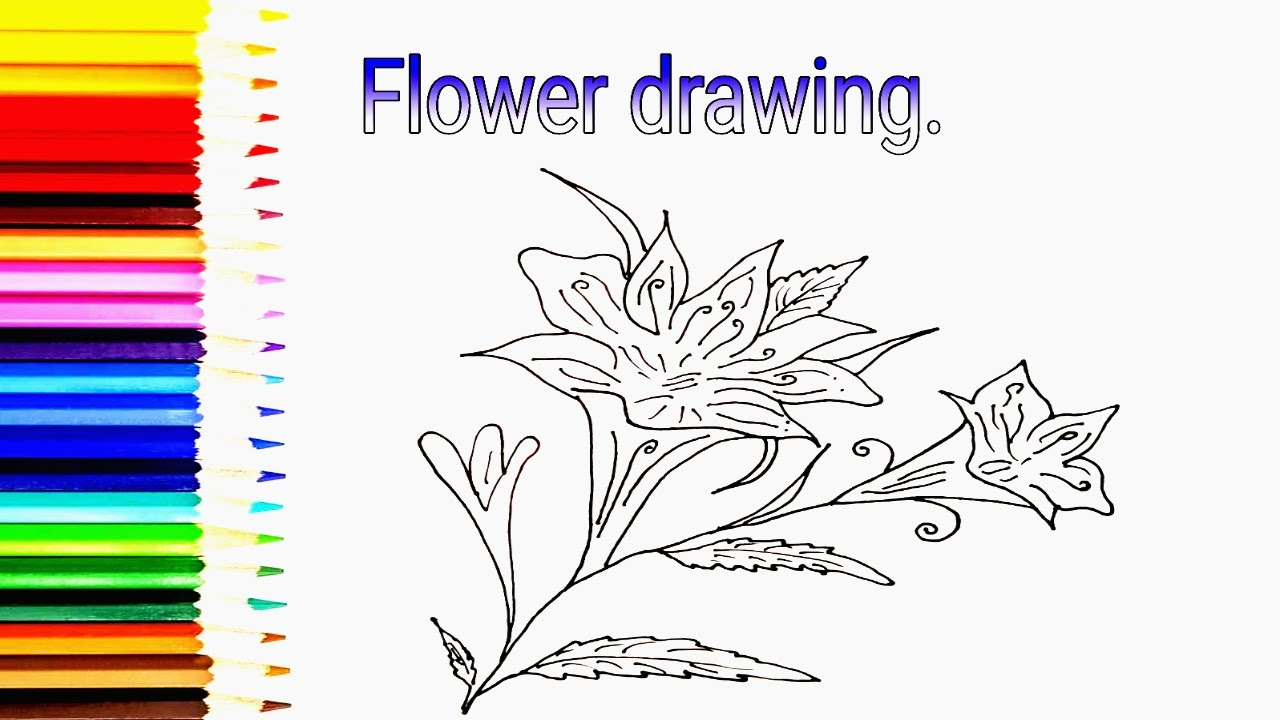 How To Draw Designing Flower Step By For Beginners Wedding