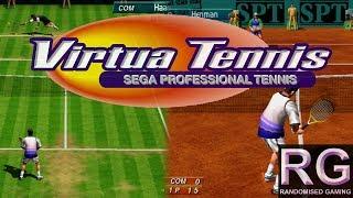 Virtua Tennis - Sega Dreamcast - Intro & full arcade playthrough [HD 1080p 60fps]