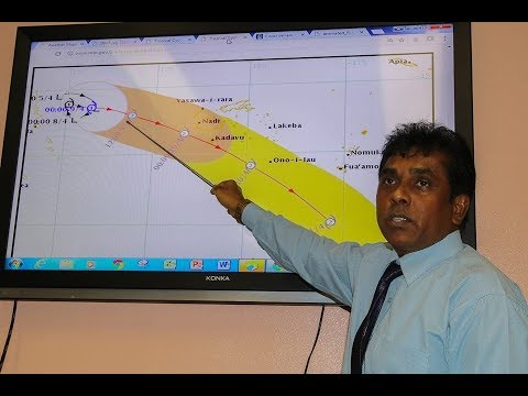 Fiji Meteorological Service Weather Briefing on 'TC Keni'