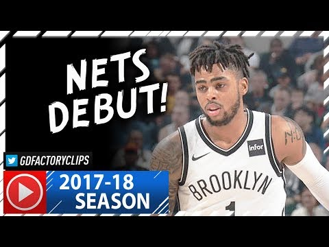 D'Angelo Russell Full Highlights vs Pacers (2017.10.18) - 30 Pts, CRAZY NETS Debut!